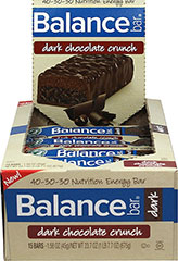 "Dark Chocolate Crunch Balance Bars <table border=""0"" cellpadding=""0"" cellspacing=""0"" width=""563""><colgroup><col width=""563"" /></colgroup><tbody><tr height=""135""><td class=""xl63"" height=""135"" style=""height:101.25pt;width:422pt;"" width=""563""><p><strong>From the Manufacturer's Label:</strong></p><p>This  Balance Bar favorite"
