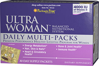 Ultra Vita Woman Daily Multi-Packs <p>Designed specifically for a woman's complex nutritional needs</p><p>Just one simple pack caters to your daily requirements**</p><p>Encourages heart and cardiovascular health**</p><p>Promotes strong, healthy bones**</p><p>Enhanced with an herbal/vegetable blend</p><p>Mega Vita Woman Daily Packs are overflowing with the nutrients you need every day!</p> 30 Packs  $39.99