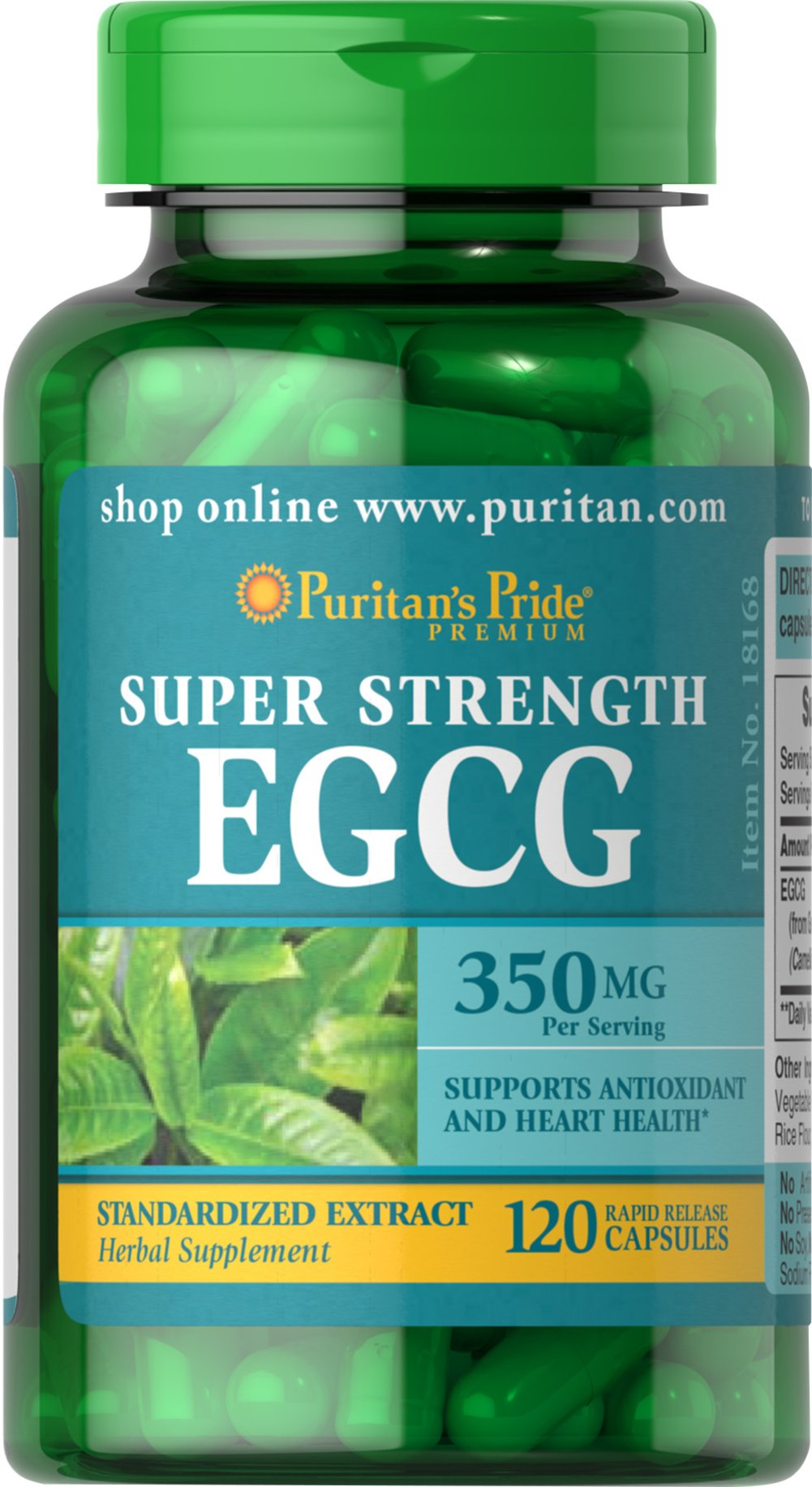 Super Strength EGCG 350 mg <p>Provides antioxidant support**</p><p>Supports healthy cell growth**</p><p>Promotes heart health**</p><p>Rapid Release capsules contain 350 mg of EGCG per serving</p><p>The natural polyphenols and flavonoids within Green Tea contribute to its powerful antioxidant properties.** Green Tea provides double immune system support by fighting cell-damaging free radicals while promoting healthy cell growth.**</p> 12