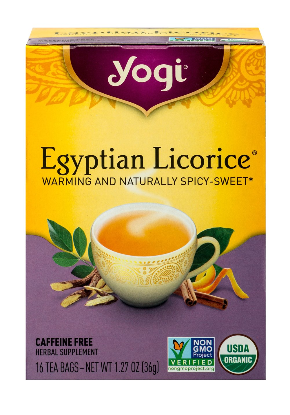 Egyptian Licorice® Tea <p><strong>From the Manufacturer's Label:</strong></p><p><strong>Delight in the Royal Taste of Egyptian Licorice</strong></p><p>Egyptian licorice is known for its natural sweetness and rich flavor. Egyptian Licorice® tea brings you this royal herb in an intriguing blend of complementary spices. This tea is sure to delight with its delicious and satisfying taste, fusing Organic Licorice with sweet and spicy