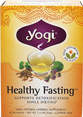 Healthy Fasting™ Tea <p><b>From the Manufactuer's Label:</b></p> <p>Caffeine Free</p> <p>Detoxification plays an important role in weight management, so look to our Healthy Fasting tea as part of your weight management plan. Our flavorful blend of traditional herbs helps detoxify the body and supports stamina and digestion. A blend of Organic Red Clover with Burdock and Dandelion supports the liver in eliminating toxins. Licorice supports overall sta
