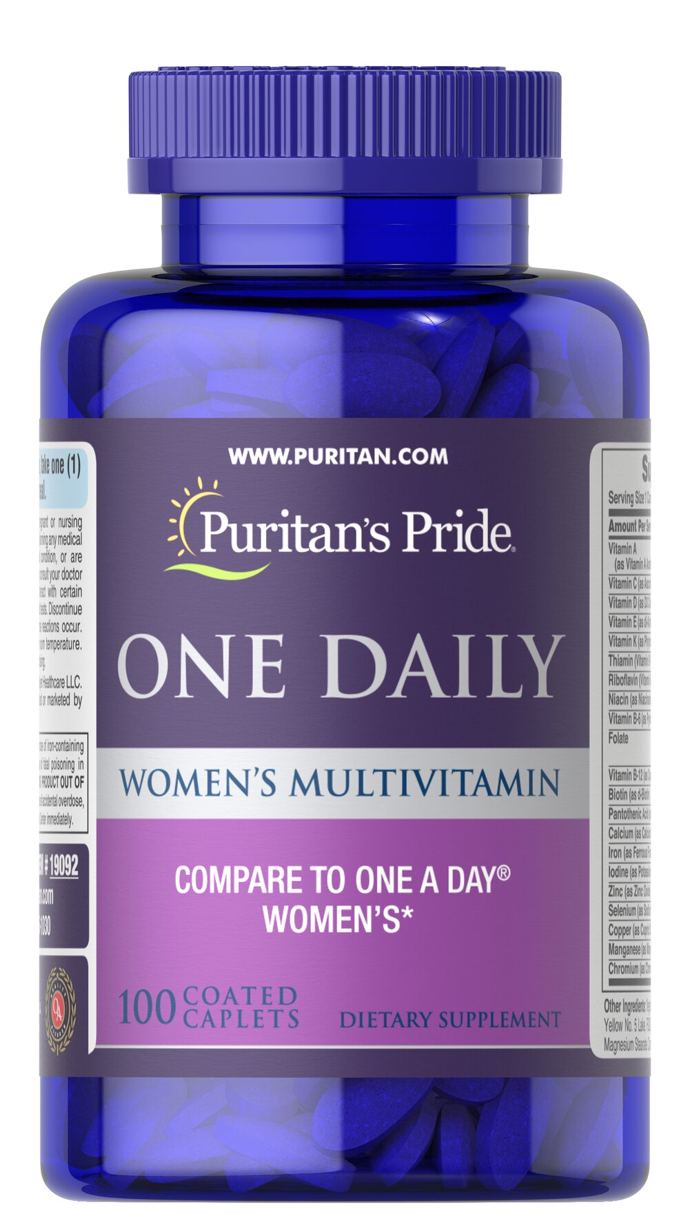 Women's One Daily Multivitamins <p><b>A Convenient Vitamin for the Woman on the Go!</b></p>  <p>Once-daily formula provides a valuable array of vitamins and minerals**</p> <p>Includes 1000 IU of Vitamin D to promote bone and immune system health**</p> <p>Provides 100% of the Daily Value of 5 different B-Vitamins to aid with energy metabolism and nervous system health**</p> 100 Caplets  $12.99