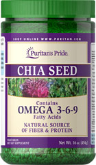 Chia Seeds <p>Chia Seeds add Omega-3 and Omega-6 fatty acids, fiber, and protein to any dish, and their neutral flavor keeps your recipes tasting just how you like them.**</p><p>Fiber helps to lower the glycemic index of meals, to help maintain blood sugar levels already within a normal range.</p><p>Essential fatty acids provide support for heart and skin health.**</p> 16 oz Seeds  $25.48