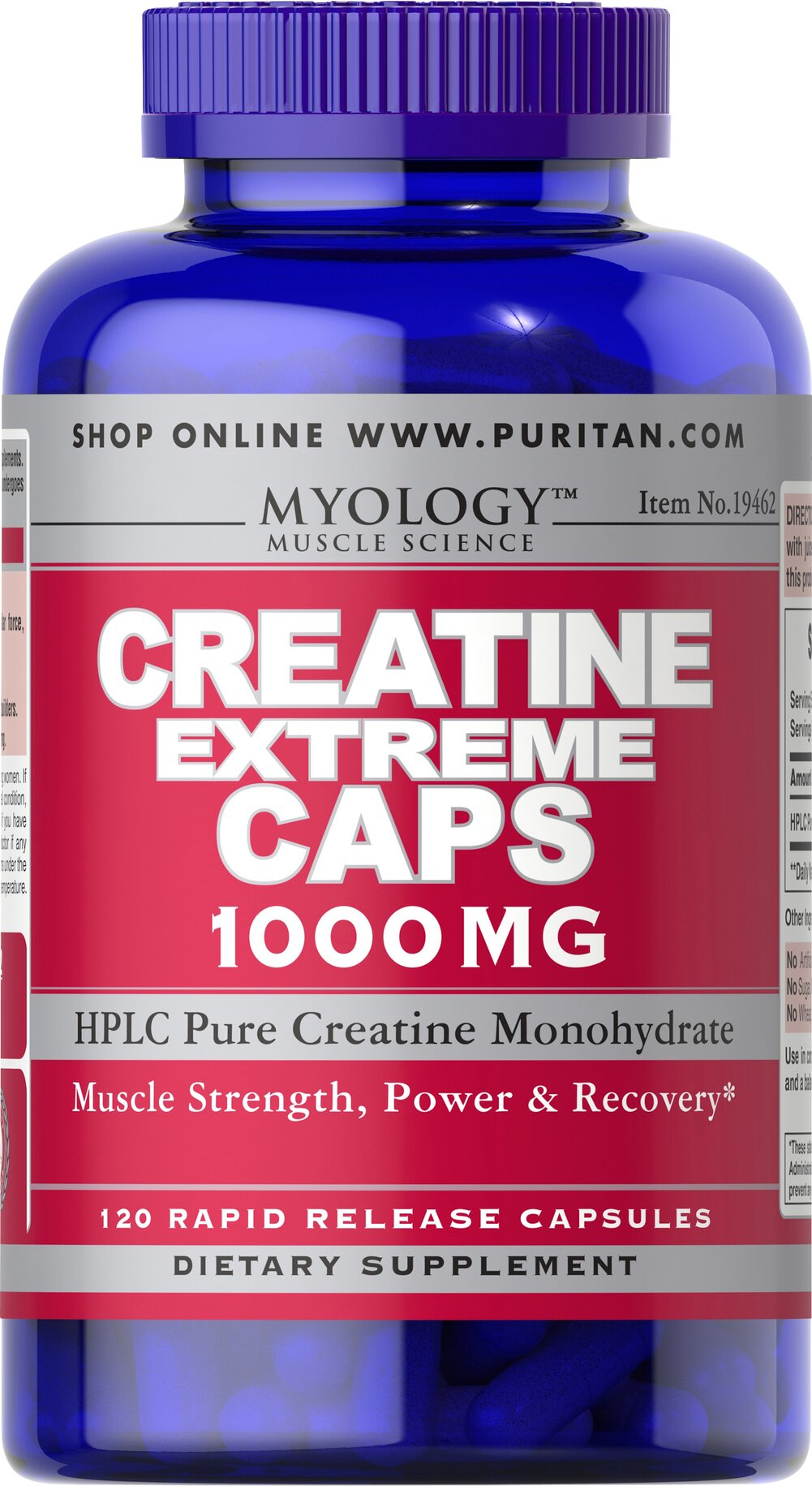 Creatine Extreme 1000 mg <p>Enhances the ability of muscles to produce higher muscular force, especially during short bouts of maximal exercise.**</p><p>Helps promote athletic performance**</p><p>Excellent supplemental choice for athletes and hardcore bodybuilders.</p><p>Each capsule contains HPLC Pure Creatine Monohydrate 1000 mg.</p> 120 Capsules 1000 mg $19.99