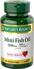 Fish oils nature s bounty mini fish oil for Small fish oil pills