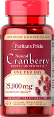 One A Day Cranberry <p>Equivalent to 25,000 mg of Cranberry Fruit per Capsule.</p><p>For years, health experts have recommended cranberry to help promote urinary tract health.**</p><p>Each dose provides the natural benefits of the whole cranberry without any preservatives, sugars, water, flavoring or color.</p> 60 Capsules 500 mg $13.99