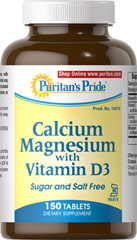 Calcium Magnesium with Vitamin D3 Kosher <p>Uses Calcium Citrate – a highly absorbable form of this essential mineral. Calcium also promotes heart, muscle, blood, colon and nerve health**</p> <p>Magnesium is involved in protein formation, energy production and sugar metabolism**</p> <p>Vitamin D3 supports immune system health, as well as colon, breast and pancreas health**</p> <p>Prepared under KOF-K Kosher Supervision</p> 150 Tablets 1000 mg/400 I