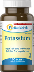 Potassium 99 mg Kosher <p><b>A Major Mineral in Kosher-Vegetarian Form!</b></p><p>You'll go bananas for this Kosher Potassium supplement! One tablet provides the proper dosage for:</p><p>Regulating neuromuscular activity**</p><p>Promoting fluid balance**</p><p>Maintaining healthy cell function**</p><p>Prepared under KOF-K Kosher Supervision</p> 100 Tablets 99 mg $21.59