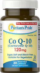 Co Q-10 120 mg Kosher <p>A Kosher Version of One Our Most Popular Supplements!</p><p>Now Kosher and Vegetarian health enthusiasts can enjoy the heart health benefits of Co Q-10.**</p><p>• Promotes healthy circulation**</p><p>• Helps convert food to energy**</p><p>• Puts cell-damaging free radicals on the run**</p><p>• Prepared under KOF-K Kosher Supervision</p><p>Free of corn, yeast, wheat, soy and dairy products.</