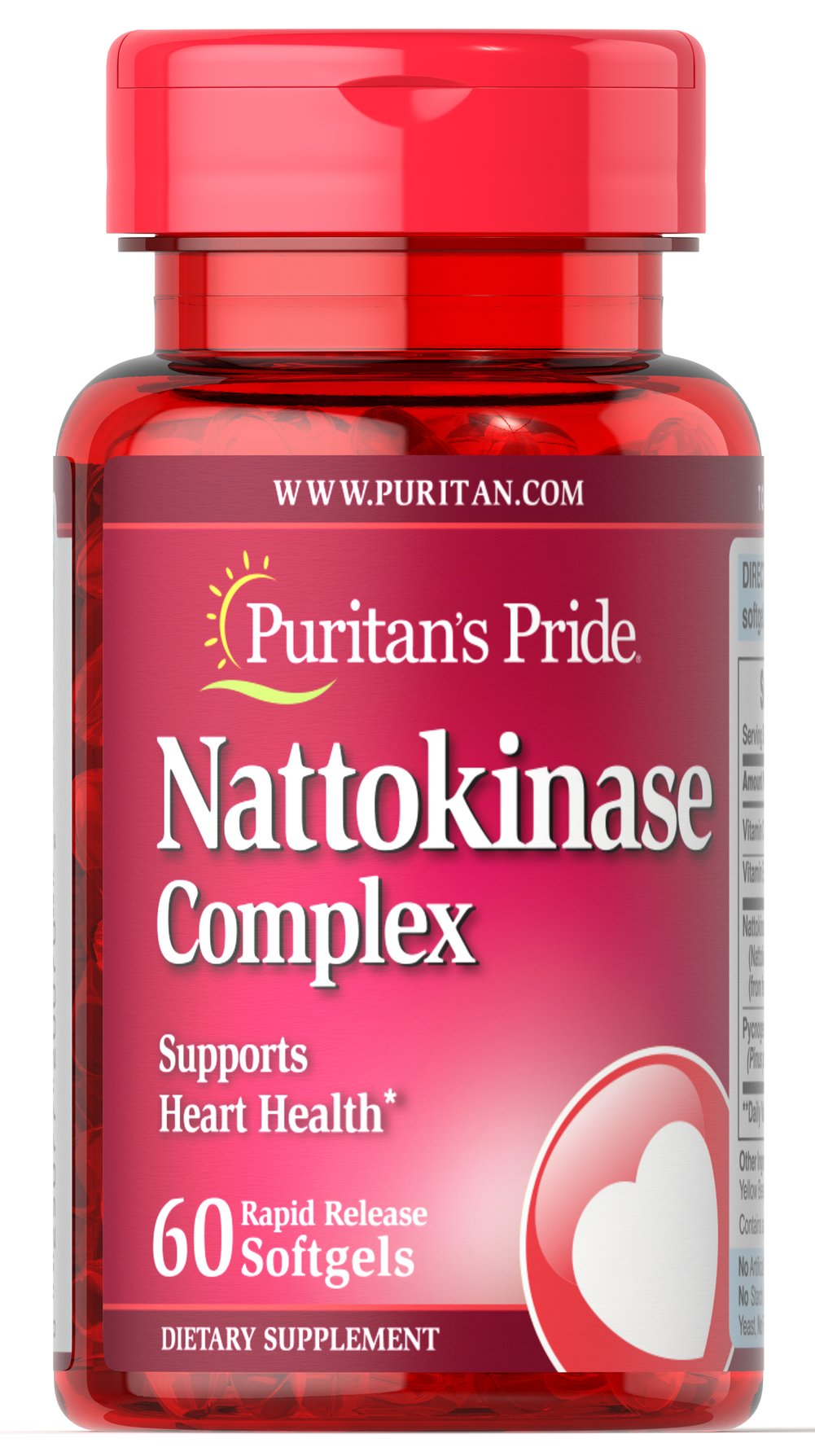 Nattokinase 100 mg Complex What the Japanese Know<br><br>The Japanese diet has long been known as heart healthy, in large part because it contains substantial amounts of soy-based nutrients.** Nattokinase is a beneficial enzyme derived from the fermented Japanese soybean called Natto, and is provided here in a rapid-release softgel.<br>• Nattokinase supports Heart and Circulatory Health**<br> 60 Softgels 100 mg $47.99