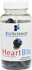 Heart Blu <b><p>From the Manufacturer's Label:</b></p><p>Heart Blu contains pTeroPure Pterostilbene, a pure form of the all-trans pterostilbene found naturally in blueberries. Harnessing the science behind blueberries and the superior cellular uptake of pterostilbene . One capsule provides the amount of pterostilbene found in over 500 cartons of blueberries </p> 60 Capsules  $21.99