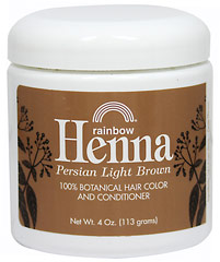 Henna Persian Light Brown Hair Color & Conditioner <p><strong>From the Manufacturer's Label:</strong></p><p>100% Botanical Hair Color and Conditioner</p><p>100% Organic</p><p>No Chemicals or Preservatives Added</p><p>Henna is an alternative to chemical hair colorings that are controversial to health considerations.  Henna comes from small shrubs, called Lawsonia, that are native to the Middle East, West Asia, and North Afr