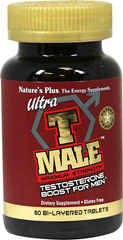 Ultra T Male™ <p><strong>From the Manufacturer's label</strong></p><p>Ultra T Male Tablets is manufactured by Natural Organics Laboratories, Inc. makers of Nature's Plus</p> 60 Tablets  $29.99