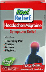 Migraine Relief <P><B>From the Manufacturer's label</B></P><P>Homeolab Migraine Relief Chewable Tablets</P><P>Helps relieve symptoms associated with headaches and migraines: Throbbing Pain, Vertigo, Nausea, Dizziness</P>  63 Tablets  $7.99