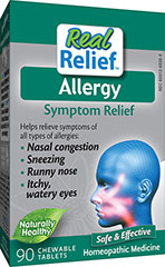 Allergy Relief <P><B>From the Manufacturer's label</B></P><P>Homeolab Allergy Relief Chewable Tablets</P><P>Helps alleviate symptoms due to seasonal allergies: Nasal Congestion, Sneezing, Runny Nose, Itchy & Watery Eyes</P>  90 Tablets  $7.99