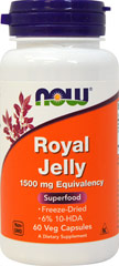 Royal Jelly 1500 mg <p><strong>From the Manufacturer's Label:</strong></p><p>Royal Jelly is a natural source of many nutrients.  Royal Jelly is the only food for the Queen Bee, and it enables her to outlive worker bees thirty fold!  The Queen Bee is also very fertile, laying up to 2,000 eggs each day throughout her life.</p><p>Freeze-dried Royal Jelly is naturally produced in dry powder form and is especially suitable for two piece capsules.<stron
