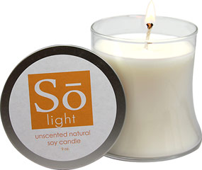 Unscented Pure Soy Glass Candle <p><b>From the Manufacturer's Label:</b></p> <p>Solay's soy pure unscented candles are hand poured and made from 100% pure soy.  Soy candles burn clean and longer without producing soot. Soy wax also burns cooler than paraffin. This is a must have for your home spa, bedroom or bathroom to help soothe and calm the atmosphere. </p>       1 Each  $14.29