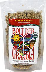 Original Boulder Granola <p><strong>From the Manufacturer's Label:</strong></p><p><strong></strong>Unleash Your Inner Hippie! From the heart of groovy, granola-crunching Boulder, Colorado comes the most rockin' primo granola ever!</p><p>This scrumptious granola has the just-right blend of oats, nuts and seeds, lightly sweetened with pure maple syrup for anytime enjoyment or snacking. Eat with milk, yogurt, over ice cream or straight f