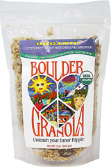 Gluten-Free Original Boulder Granola <p><b>From the Manufacturer's Label:</b></p> <b></b>Unleash Your Inner Hippie!</b></p> <p>From the heart of groovy, granola-crunching Boulder, Colorado comes the most rockin' primo granola ever!</p> <p> Boulder Granola is chock full of protein, fiber, vitamins, minerals, and antioxidants to support active bodies and active lifestyles. </p> <p>Organic, premium, scrumptious gr