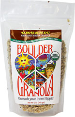 Chocolate Chunk Boulder Granola <p><b>From the Manufacturer's Label:</b></p> <b></b>Unleash Your Inner Hippie!</b></p> <p>From the heart of groovy, granola-crunching Boulder, Colorado comes the most rockin' primo granola ever!</p> <p> Boulder Granola is chock full of protein, fiber, vitamins, minerals, and antioxidants to support active bodies and active lifestyles. </p> <p>Organic, premium, scrumptious granola