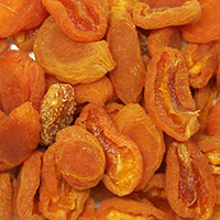 Varigrade Apricots <p>Small California bright orange to medium amber color, perfect for baking or snacking. </p> 8 oz Bag  $7.99