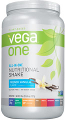 Vega All in One Nutritional Shake French Vanilla <p><strong>From the Manufacturer:</strong></p><ul><li>Plant Based </li><li>Non-GMO</li><li>20 gram Protein</li><li>170 Calories per serving</li></ul><p>Manufactured by Sequel Naturals</p> 29.2 oz Powder  $54.99