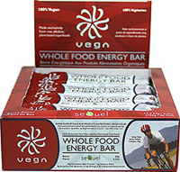Vega Whole Food Energy Bar Berry 63 gram * 100% Vegan * 10gram Complete Raw Protein * 6gram Dietary Fiber      Made exclusively from raw, alkaline, plant-based superfoods.  12 Bars 63 gram $31.99