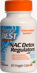 Best NAC Detox Regulators <p><strong>From the Manufacturer's label:</strong></p><p>Best NAC Detox Regulators are manufactured by Doctor's Best.  </p><p></p><p><strong></strong></p> 60 Vegi Caps  $6.29