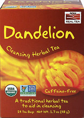 Organic Dandelion Cleansing Herbal Tea <p><strong>From the Manufacturer's Label: </strong></p><p>A Traditional herbal tea</p><p>Caffeine-free</p><p>While it may be a pesky weed to some, Dandelion tea is an amazing herbal brew. A weed?  We prefer to think of it as a precious flower.</p><p></p> 24 Tea Bags  $8.79