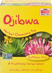Ojibwa Herbal Cleansing Tea <p><strong>From the Manufacturer's Label</strong></p><p>Ojibwa is a traditional North American herbal beverage long known for its benefits. This caffeine-free brew is a traditional herbal blend of burdock root and other well known herbs for your benefit. Enjoy a delicious cup of this tea and you know exactly why this tea is so wonderful.<br /></p> 24 Tea Bags  $8.99