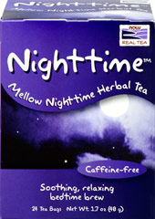 Nighttime™ Herbal Tea <p><strong>From the Manufacturer's Label</strong></p><p>Caffeine-free</p><p>Soothing, relaxing bedtime brew</p><p>No matter how hard we try, sometimes it's simply impossible to let go of the day's events and unfinished to-do lists. Here's the perfect solution. Nighttime™ is a tranquil, mellowing blend of botanicals known for their soothing and relaxing qualities. Dim the lights, sip a cup and let mother n