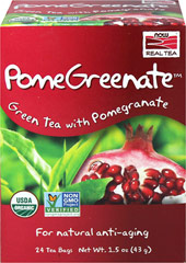 Organic PomeGreenate™ Green Tea with Pomegranate <p><strong>From the Manufacturer's Label:</strong></p><p>Something extraordinary happens when the benefits of Green Tea join forces with the effects of Pomegranate. PomeGreenate™ is an exhilarating union of organic green tea and pomegranate. This blend is excellent served hot or cold and guaranteed to dazzle your senses.</p> 24 Tea Bags  $3.79