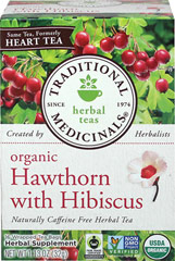 Organic Heart Tea with Hawthorn <p><strong>From the Manufacturer's Label:</strong></p><p>Organic Heart Tea with Hawthorn is made up of Hawthorn leaves, fruits and flowers in this tea and carefully hand-picked, ensuring that they meet quality standards. The taste is fruity, floral, pleasantly sweet and tart.<br /></p> 16 Tea Bags  $9.99