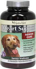 Senior Care Heart Support <strong>From the Manufacturer's Label:</strong> <p>Formulated specifically for senior dogs with Coenzyme Q10.</p> 60 Chewables  $9.49