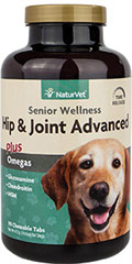 Senior Care Hip & Joint- Time Release <strong>From the Manufacturer's Label:</strong> <p>Formulated Specifically for senior dogs with glucosamine, chondroitin, hyaluronic acid and msm.  Recommended to provide senior dogs with extra support needed for healthy aging and advanced hip and joint stages.</p> 90 Chewables  $59.99
