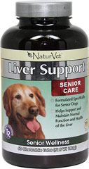 Senior Care Liver Support <B>From the Manufacturer's Label:</B> <P>Senior Care Liver Support is formulated specifically for senior dogs.  Helps support health of the liver.</P>  60 Chewables  $44.99