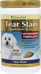 Tear Stain Supplement Powder <B>From the Manufacturer:</B> <P>Tear Stain Supplement Tablets are formulated to help eliminate unsightly tear stains from the inside out.</P> 200 g Powder  $29.99