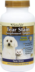 Tear Stain Supplement <B>From the Manufacturer:</B> <P>Tear Stain Supplement Tablets are formulated to help eliminate unsightly tear stains from the inside out.</P> 60 Chewables  $18.99