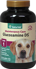 Glucosamine Double Strength with Chondroitin <p><strong>From the Manufacturer:</strong></p><p>Veterinarian formulated and recommended to support healthy hip ad joint function. Helps to maintain joint flexibility and alleviate aches and discomfort associated with exercise. Tasty natural flavoring that dogs love.</p><ul><li>Made in the USA</li></ul> 60 Chewables  $11.98