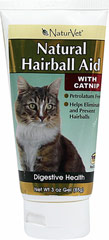 Natural Hairball Aid with Catnip <strong>From the Manufacturer:</strong> <p>Natural Hairball Aid is a combination of natural herbs and oils which coat the digestive tract to help ingested hair pass through the intestines and prevent hairballs. Formulated with the appealing taste of catnip.</p> 3 oz Gel  $16.99