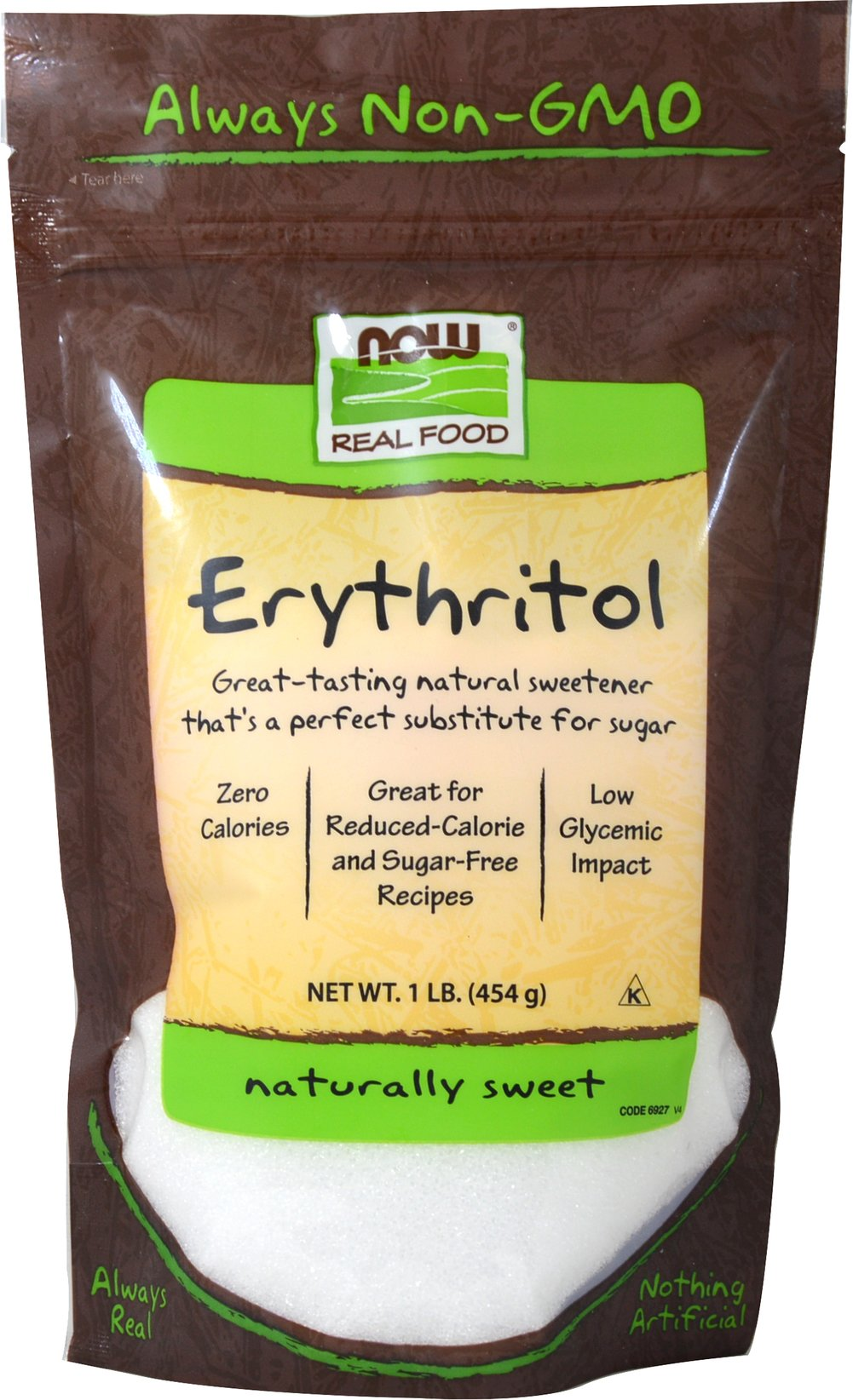 Erythritol 100% Pure Natural Sweetener <p><strong>From the Manufacturer's Label:</strong></p><p>Pleasant-Tasting Sweetener</p><p>Erythritol is a sugar alcohol derived from a corn source and is naturally found in small amounts in various plants, fruits and fungi, including mushrooms. </p> 1 lb Bag  $16.99