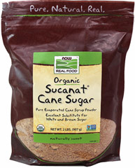 Organic Sucanat® Cane Sugar <p><strong>From the Manufacturer's Label:</strong></p><p>Pure Evaporated Cane Syrup Powder</p><p>Excellent Substitute for Table Sugar</p><p>Certified Organic Sucanat Cane Sugar is a whole cane sugar from pure, dried sugar cane syrup and is a great alternative to more refined and processed sugars. <br /></p> 2 lb Bag  $13.49