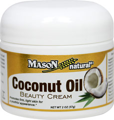 "Coconut Oil Beauty Cream <p><strong>From the Manufacture's Label:</strong></p><p>Promotes firm, tight skin for a youthful appearance.**</p><p>Coconut oil can help support youthful looking skin.**  The coconut oil will aid in making the skin smoother.**  The skin will become more evenly textured with a healthy ""shine.""** </p><p>Manufactured by Mason Natural®</p> 2 oz Cream  $5.49"
