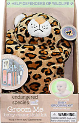 Endangered Species Groom Me Baby Essential-Wild Cat <p><strong>From the Manufacturer:</strong></p><p>All purpose Baby Grooming Kit for on the go!</p><p>28 Piece kit includes reusable pouch, safety tweezers, nail clippers, safety scissors, baby brush and comb, 2 nail files, and 20 soft cotton swabs</p> 1 Kit  $17.99