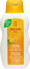 Calendula Baby Cream Bath <p><b>From the Manufacturer:</b></p><p>Gently cleanses and cares for delicate skin</p><p> Weleda Calendula Cream Bath gently cleanses and cares for your baby's delicate skin.  Free from synthetic detergents, it supports the natural protective layer of your baby's delicate skin.  It is also ideal for the protective care of sensitive adult skin.</p>  6.8 oz Body Wash  $11.99