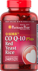 Co Q-10 plus Red Yeast Rice <p>A powerful antioxidant combined with an ingredient whose traditional goodness has been valued for centuries can only mean one thing… <strong>Co Q-10 Plus Red Yeast Rice.</strong></p><p>Red Yeast Rice has been a part of the traditional Chinese diet for centuries, and Coenzyme Q-10 promotes energy production and is an important contributor to antioxidant and heart health.** Only one softgel a day brings you these many benefits.</p>