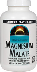 Magnesium Malate 625 mg Magnesium Malate is a compound of magnesium and malic acid. Malic acid is a natural fruit acid that is present in most cells in the body and is an important component of numerous enzymes key to ATP synthesis and energy production.    200 Capsules 625 mg $8.99