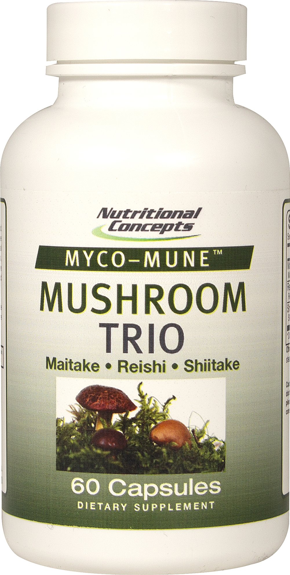 Myco-Mune™ Mushroom Trio Maitake, Reishi, Shiitake <p>Myco-Mune™ Mushroom Trio – is an optimized blend of the worlds finest mushrooms. Mushrooms are a leading source of the essential antioxidant selenium and ergothioneine. Eastern cultures have revered mushrooms health benefits for centuries. </p><p></p> 60 Capsules