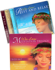 Meditation Trilogy CD Set <b><p>From the Manufacturer:</b></p> <p>This 3-CD set called Meditation Trilogy will open up the mystery of the East to help conquer everyday stress.  The music will soothe your mind and take you through meditative breathing exercises and relaxation techniques. The music ranges from soft to more upbeat world beat and other energetic tunes. This Meditation Trilogy 3-CD will inspire, uplift and guide you. </p> <b><p>This Tri