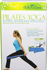 Toning Bands Kit <strong></strong><p><strong>From the Manufacturer: </strong></p><p>The Toning Bands Kit includes two 4-foot by 6-inch exercise bands that work hand in hand with a special Pilates Yoga workout DVD. </p><p>The workout takes you through 10 exercises to chisel your abs, arms, thighs, and buttocks quickly and effectively. The soothing sounds of nature help you relax as you exercise. </p><p>Each band has a different lev